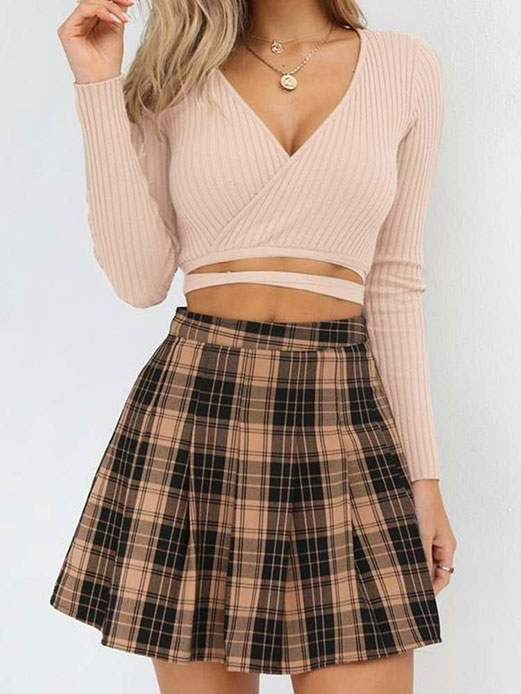 Crop Tops With Skirt Style