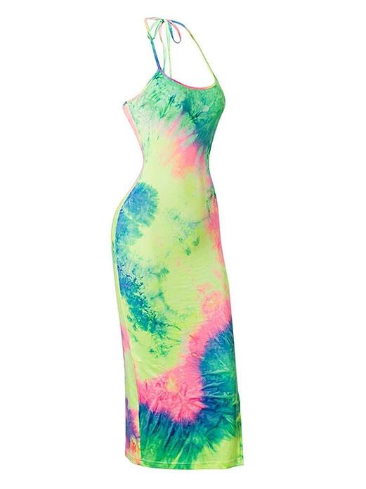 JurllyShe Tie Dye Split Side Bodycon Dress