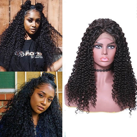 360 lace front wig jerry culry hair wig