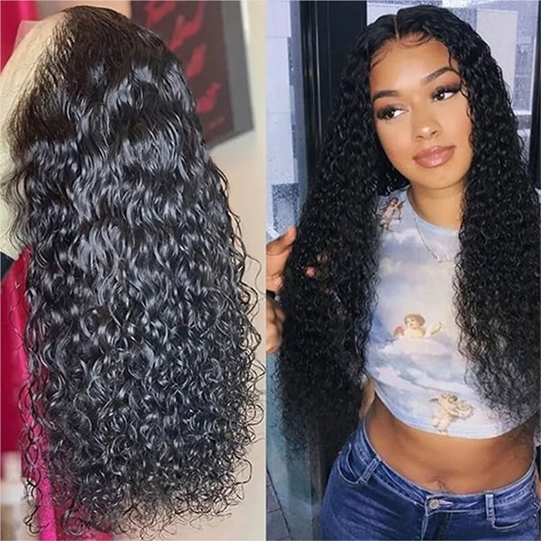 360 lace water wave human hair wigs