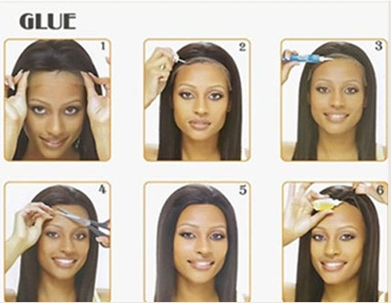 How To Wear Lace Wigs With Glue