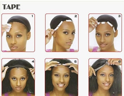 Wear Lace Wigs With Tape