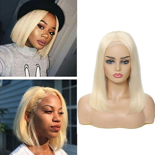 Blonde Bob Straight Lace Front Wig