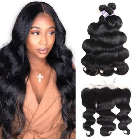 body wave hair bundles with frontal closure