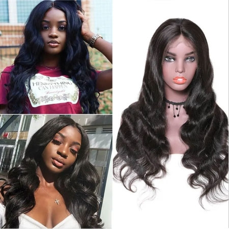 Transparent lace front wigs body wave hair