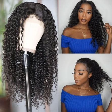 curly lace front human hair wig
