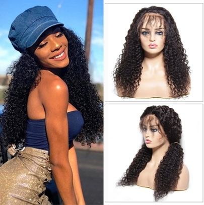 curly lace front wigs for sale