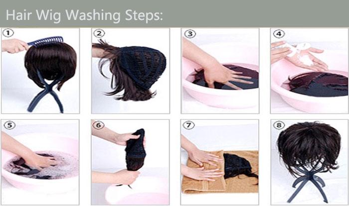 washing hair steps