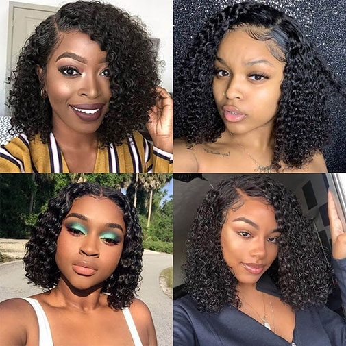 Jerry Curly Bob Human Hair Lace Wig Show