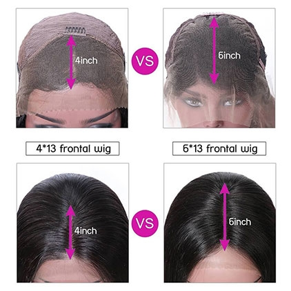 lace front wig types