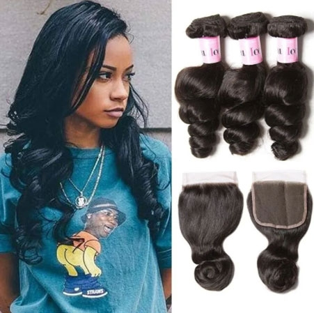 Loose wave free part lace closure