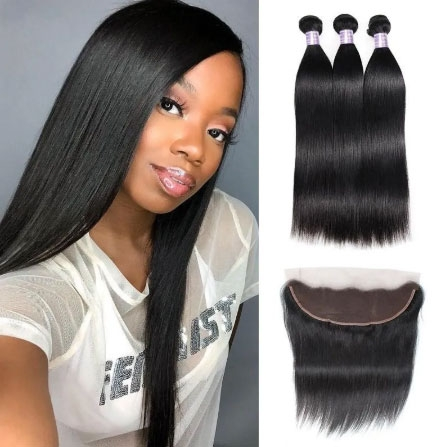 straight hair bundles and frontal