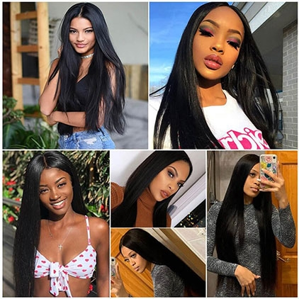 13*6 lace part long straight lace front human hair