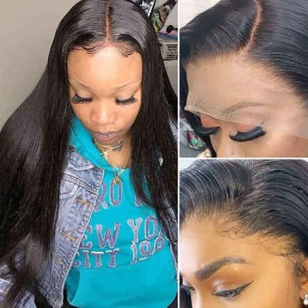 straight Transparent Lace Wig
