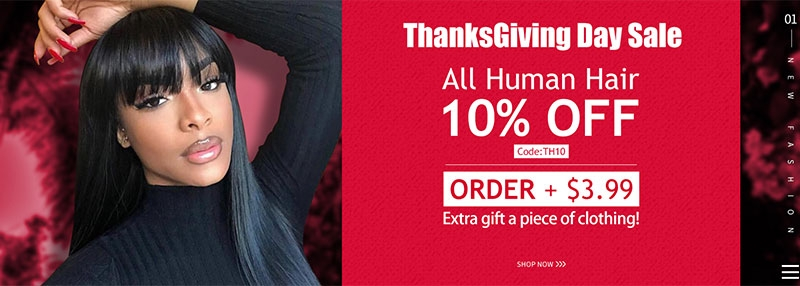 Thanksgiving Day Sale For Human Hair