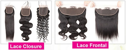 the difference between the lace frontal vs lace closure