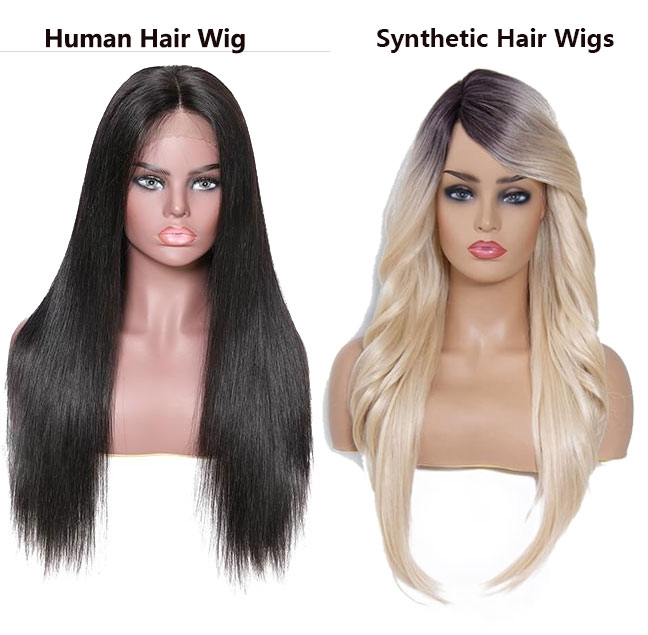 human hair wig vs synthetic hair wig