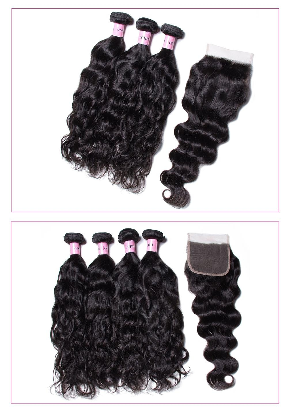 Natural Wave With 4*4 Lace Closure