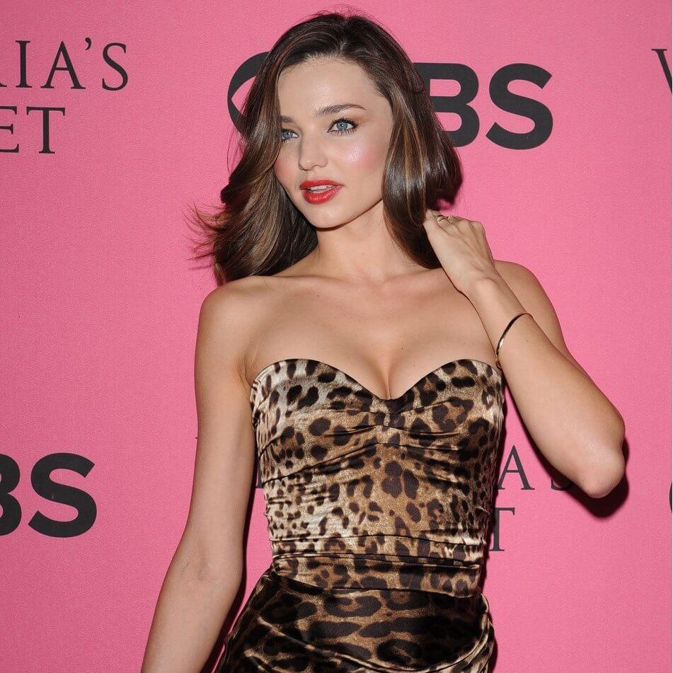 Miranda Kerr hot leopard print dress