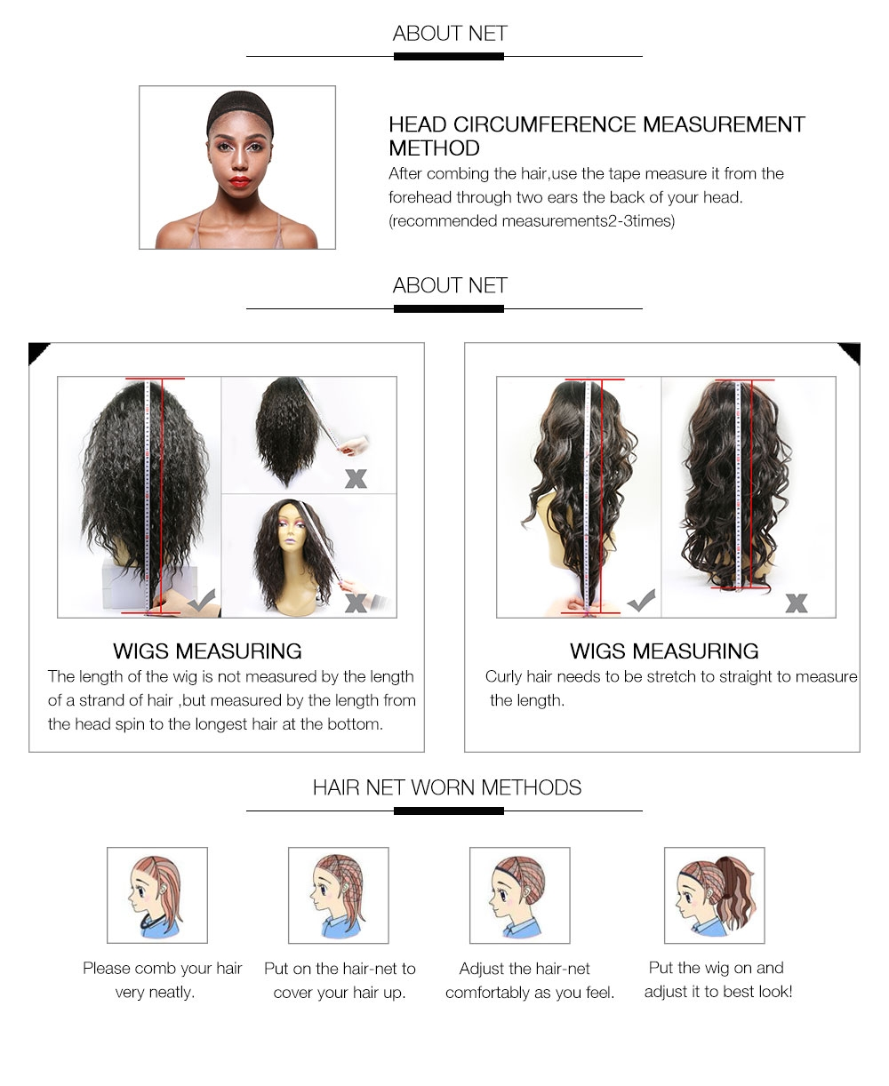 Jurllyshe Pre Plucked Lace Frontal Kinky Straight Wig