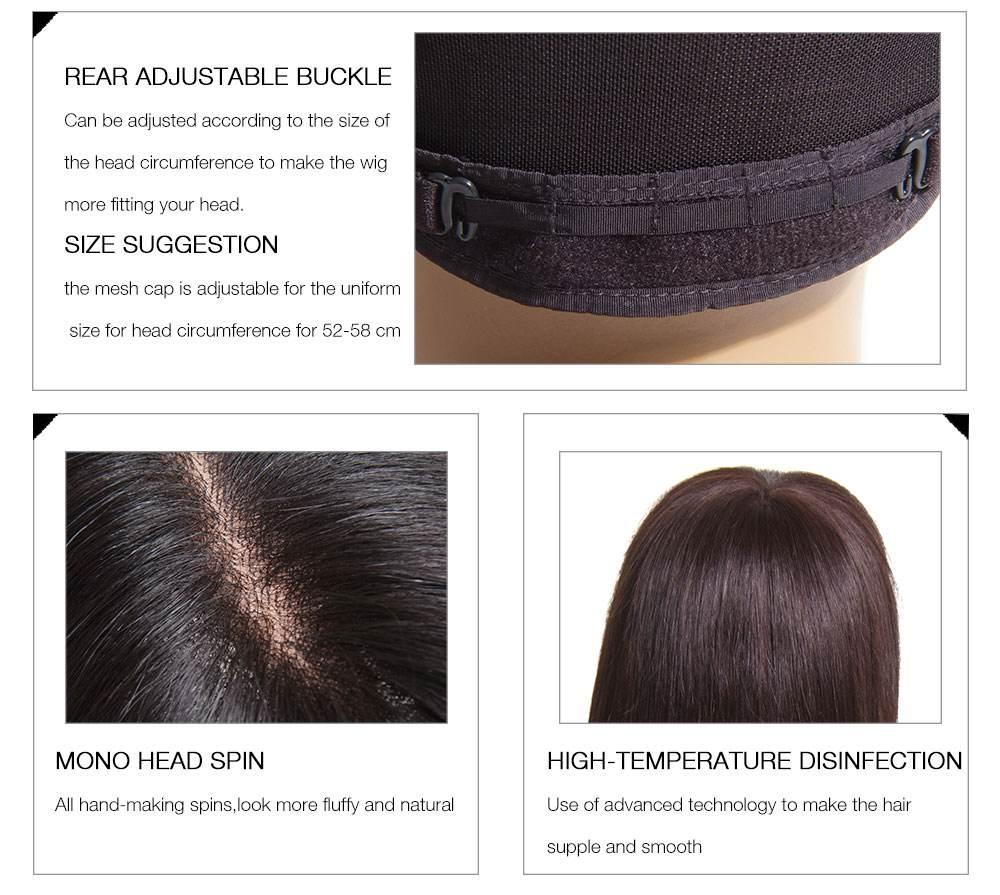 JurllyShe Long Straight Hair Wigs details