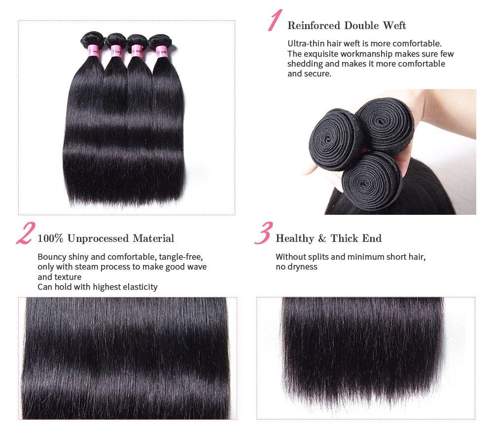 unice straight virgin hair